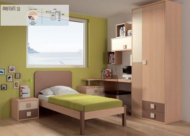 Habitación infantil con cama tradicional