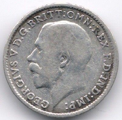 United Kingdom 3 Pence 1917 Silver op eBid België