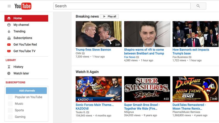 "Check out the desktop version YouTube's New ""Breaking News"" Section from The Verge."