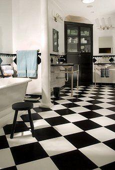 Traditional checkboard on diagonal? B+W no. Tone on tone, yes.