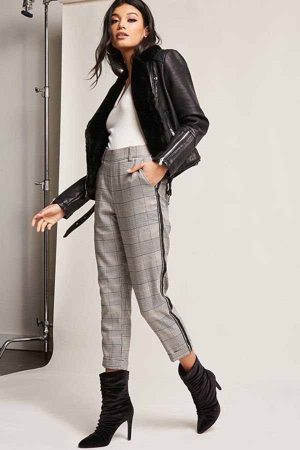 FOREVER 21 Glen Plaid Ankle Pants http://shopstyle.it/l/nf94 #fashion #style #beauty #hair #makeup #outfit #winter #winterfashion #winteroutfit #sweater #jumper #jacket #coat