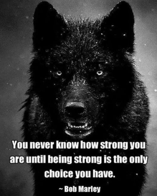 I just realized how strong I have to be.