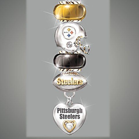 NFL Pittsburgh Steelers Charm Necklace: Go Steelers!