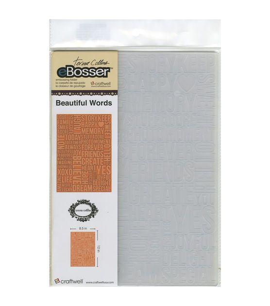eBosser Embossing Folders Letter Size By Teresa Collins-Beautiful Words