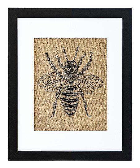 Lend Rustic Appeal To Your Kitchen Or Dining Room Decor With This Charming Framed Print Showcasing A Honeybee Motif In Black
