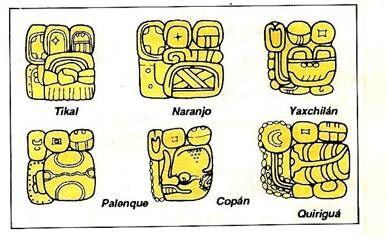 Nombres de ciudades en glifos mayas | Mayas | Pinterest | Maya