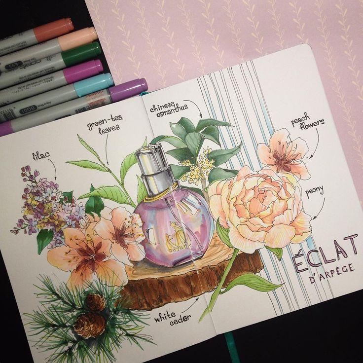 Ну вот что в итоге вышлоСпасибо @kato.ivannikova за вдохновение, вместе рисовать веселее На душе стало радостнее от приятного запаха и радостных оттенков #odor #leaves #flowers #sketch #sketchbook #perfume #art #drawing #marker #markers #finecolour #copic #promarker #liner #fabercastell #lanvin #eclat #leuchtturm1917
