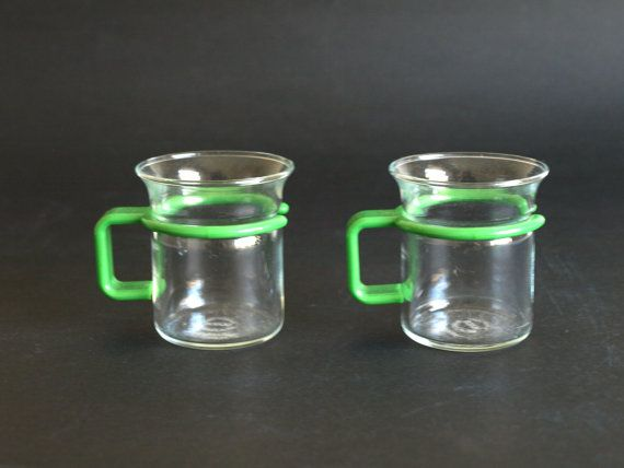 Bodum Glass Espresso Cups Demi Tasse with Green by FunkyKoala