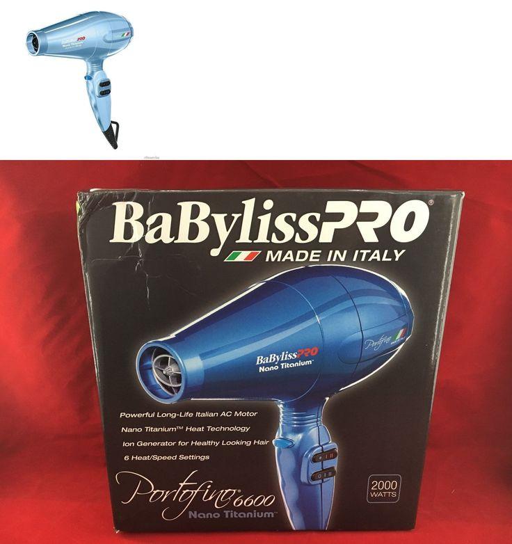 Hair Dryers: Babyliss Pro 2000 Watt Hair Blow Dryer Portofino 6600 Nano Titanium Blue -> BUY IT NOW ONLY: $74.99 on eBay!