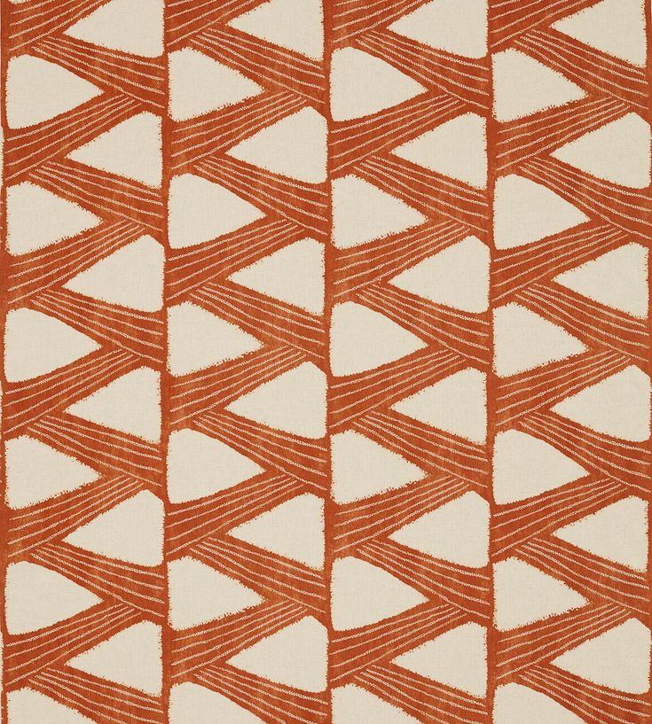 70s Interior Design Revival   Kanoko Fabric by Zoffany   Jane Clayton