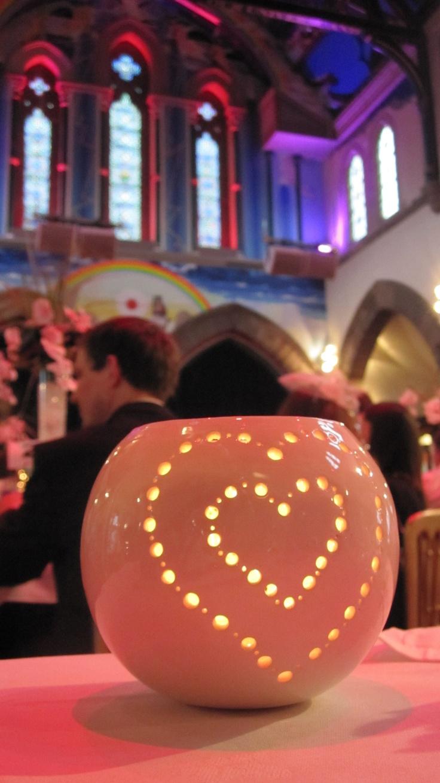 Tealight Heart £27 by EC Ceramic Design