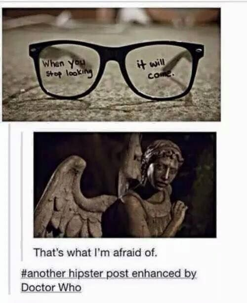 "Another hipster post enhanced by Doctor Who<<< honestly, the first thing I thought of when I read the glasses was ""how could this be anything other than a Doctor Who reference?"""