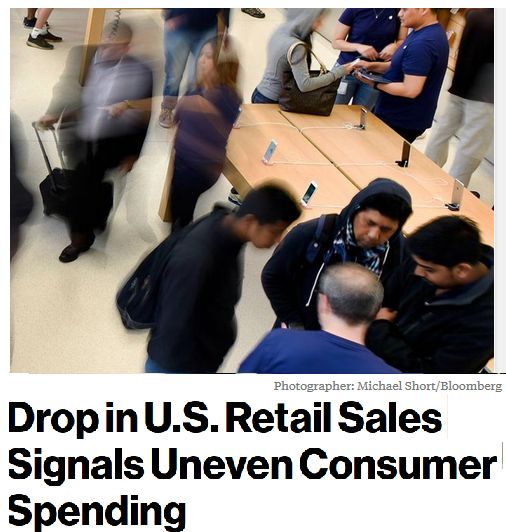 STOP the bleeding, MAGA Trump!! Largest drop in 16 months. We do realize you're going to start SCREAMING & tweeting.. Obama, Clinton! Just FIX the PH thing, STUPID. https://www.bloomberg.com/news/articles/2017-06-14/drop-in-u-s-retail-sales-signals-uneven-consumer-spending