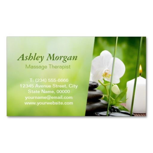 17 best images about massage business cards on pinterest massage floral patterns and business. Black Bedroom Furniture Sets. Home Design Ideas