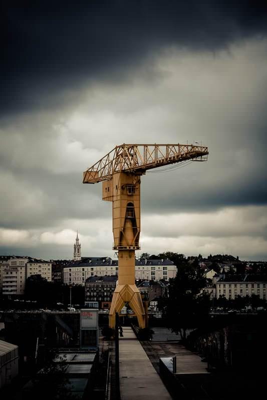 Nantes. La grue Titan
