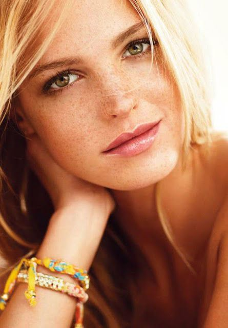 women model blonde freckles - photo #12