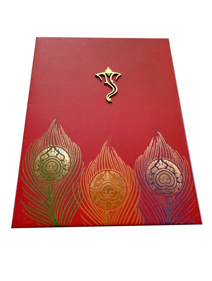Marriage Card In Vibrant Red WeddingCard Available For Online Order Hindu Wedding