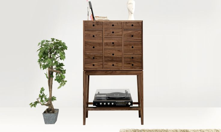 Our sideboard is perfect, and you can choose it in oak or walnut. Both are beautiful and functional to every room, and to storage anything! #sideboards #solidwalnut #drawers #wewood #livingroom #contador