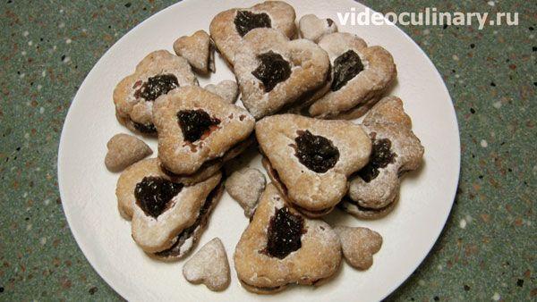 Черничное печенье из миндального теста от videoculinary.ru