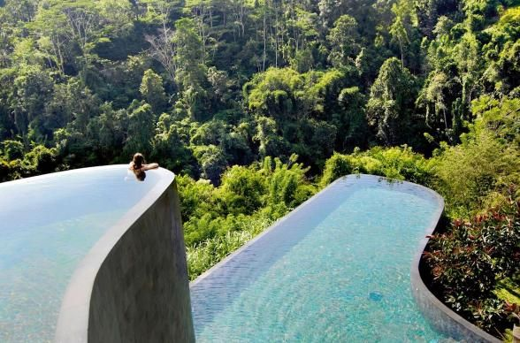 Escape to the rainforests of Bali this summer and float above the jungle in infinity pools and gardens that are built right into the cliffs. With luxury bungalows, and gardens full of chocolate, vanilla, cinnamon, jackfruit, coconut and lemongrass, you can bet life around these parts is pretty sweet. | Photo Credit: Grohe Magazine