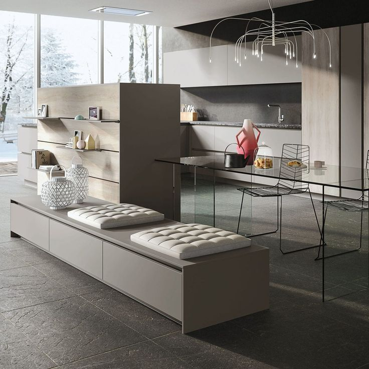 Contemporary kitchen / stainless steel LOOK by Michele Marcon SNAIDERO
