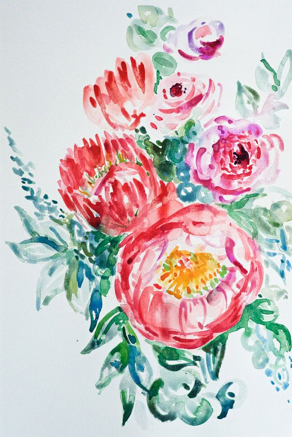 Protea and Peonies by WildBohoAnna on Etsy