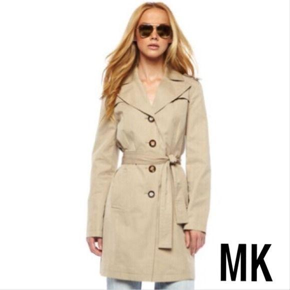 Michael Kors   Tan Trench Coat Jacket Size Small