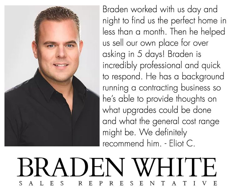 SELLING or BUYING in Toronto? Contact Braden White of Chestnut Park Real Estate Ltd. today to learn how he can assist you with achieving your real estate objectives.   Office: 416-925-9191 www.bradenwhite.com