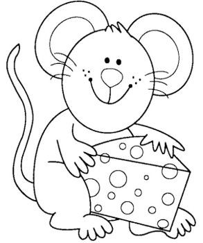 Coloring Pages Cute Mouse And Coloring On Pinterest