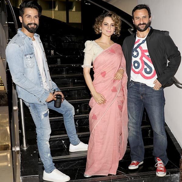 The latest Bollywood gossip is that two of the actors don't get along very well – Shahid Kapoor and Kangana Ranaut. http://www.glamoursaga.com/all-is-not-well-between-rangoon-co-stars-shadid-kangana/