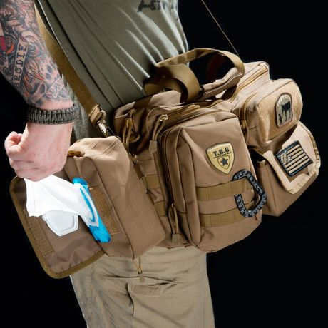 Tactical Baby Gear Hardcore Baby Bags  Amp up the aesthetic of on-the-go parenting with these rugged, mega-versatile bags from Tactical Baby Gear. With no frills, no fuss and no cutesy graphics, these bags are not messing around. Customizable and fully functional, they'll carry absolutely everything you need, and prepare you for the battlefield of diapers, band-aids, snacks and extra clothes.  Full Load Out 2.0 (Coyote Brown)