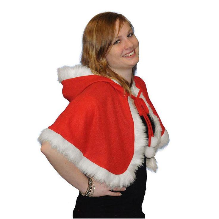 Weihnachtscape Kapuzencape Cape Weihnachten Weihnachtskostüm Kostüm Zubehör