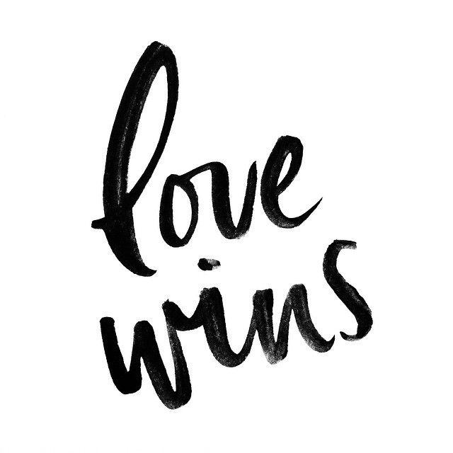 love wins handlettering by Script Merchant