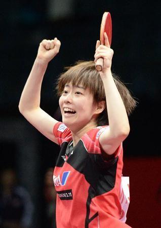 佳純、飛び跳ねて喜び爆発!中国との決勝で番狂わせ誓う/卓球(3)