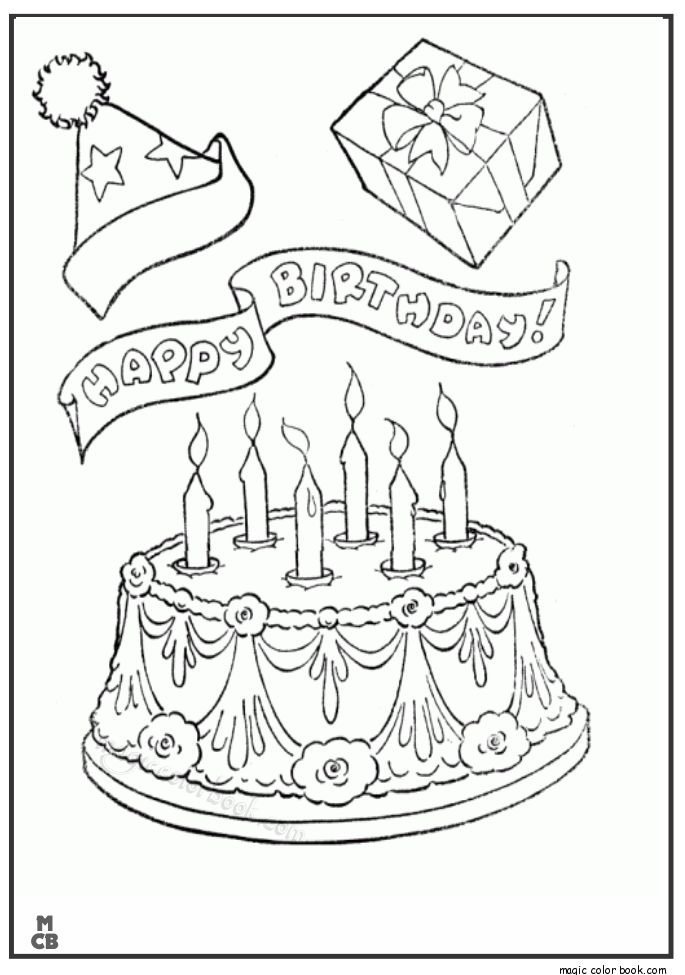 28 best Birthday Coloring pages images on Pinterest | Birthday ...