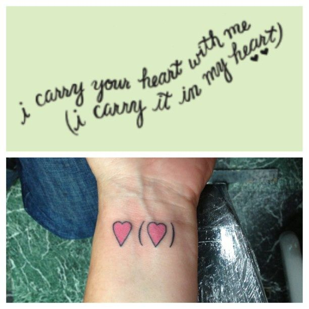 symbolic EE Cummings wrist tattoo