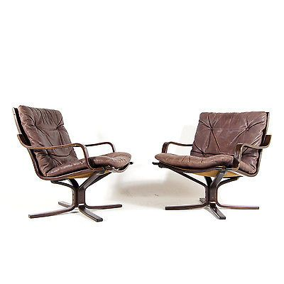 norwegian vintage office chair. 1 Of 2 Retro Vintage Norwegian Rosewood Leather Falcon Style Chair Armchair 70s Office A