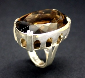 Smokey Quartz and Sterling silver - handmade by Buster Collins