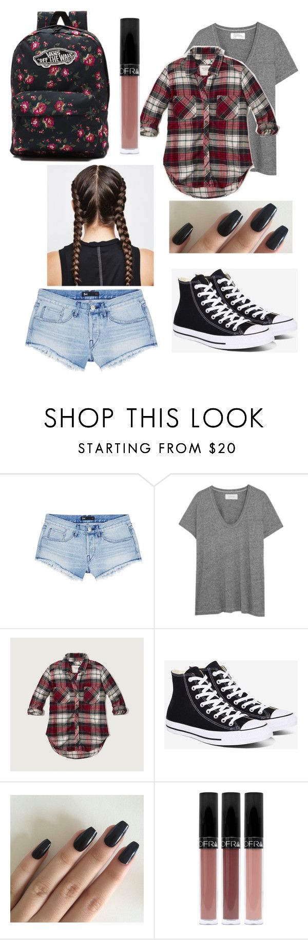 """""""School"""" by kamryn0606 ❤ liked on Polyvore featuring 3x1, The Great, Abercrombie & Fitch, Converse and Vans"""