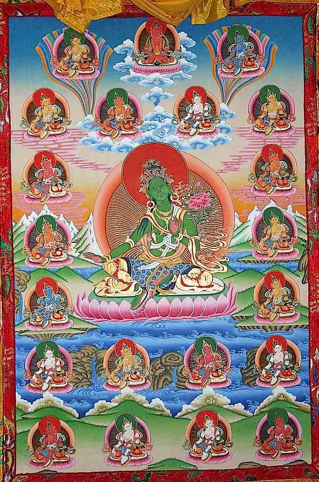 The 21 forms of Tara (according to Atisha in this Tangkha) are only the beginning of the endless emanations and depictions of Tara.
