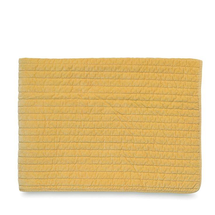 Washed Velvet Straight Line Quilted Blanket | Citta Design