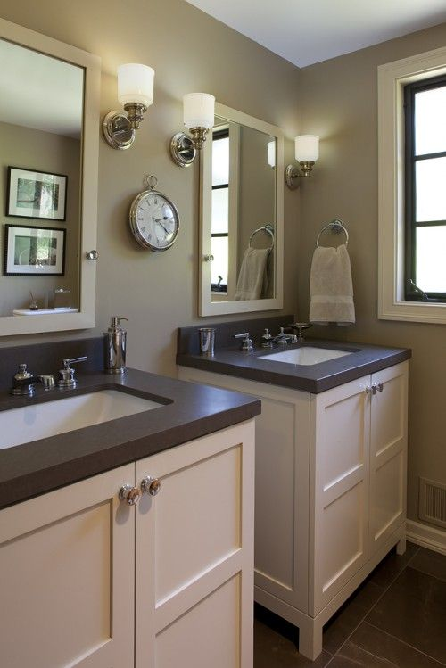 White Bathroom Cabinets With Dark Countertops 101 best bathroom images on pinterest | room, bathroom ideas and