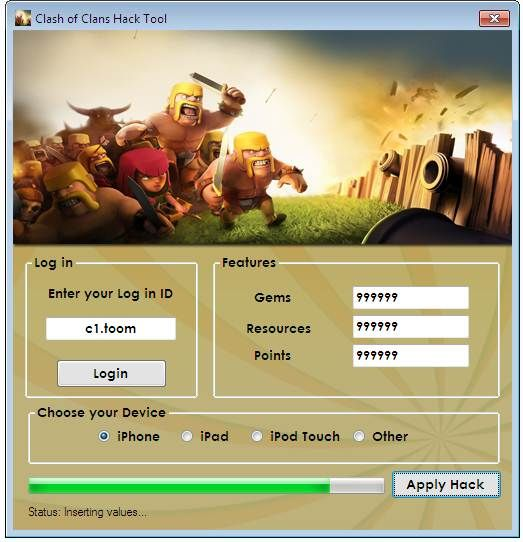 Clash of Clans Hack Tool, Clash of Clans Free Cheat Codes to Unlock All the Stages and Gain Unlimited Points.