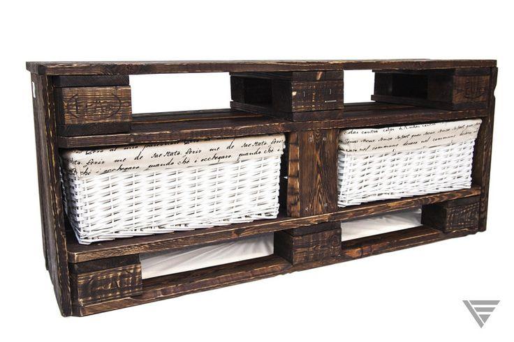 Postarzana ławka z palet-Drewniana Ławeczka Domowa - PiatyElement - Ławki