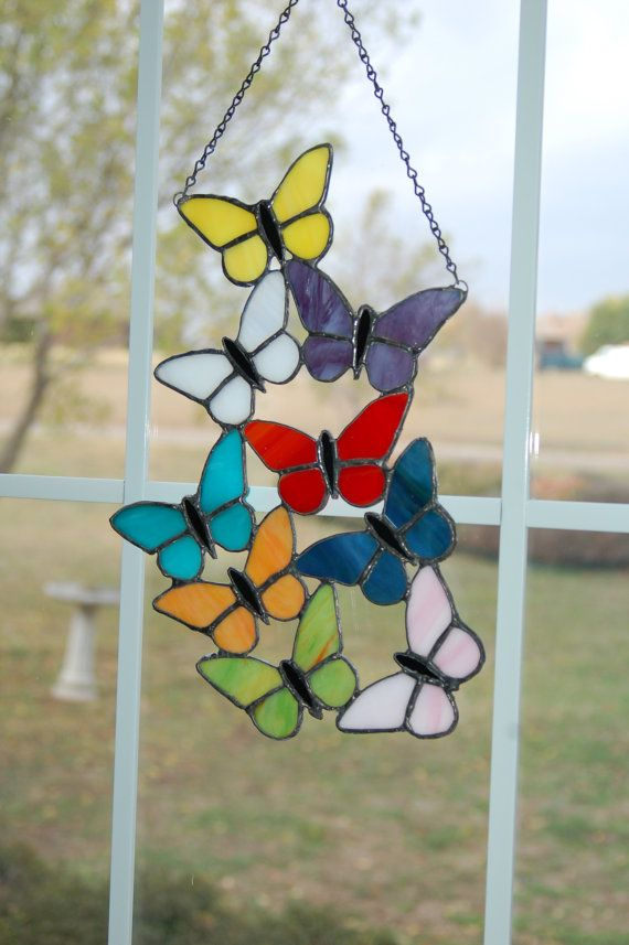 Stained Glass Butterflies from Etsy