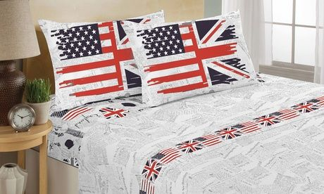 #Completo lenzuola e trapunta flags  ad Euro 19.90 in #Groupon #Products home and garden1