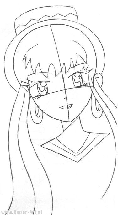 Manga meisje tekenen - Hyper-Art