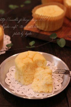 「ふわふわ濃厚ミルキー生スフレチーズケーキ」きょうこcafe | お菓子・パンのレシピや作り方【corecle*コレクル】