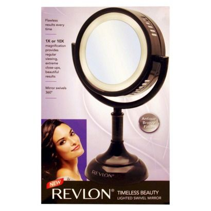 revlon timeless beauty lighted mirror bronze revlon lighted mirror and ps. Black Bedroom Furniture Sets. Home Design Ideas