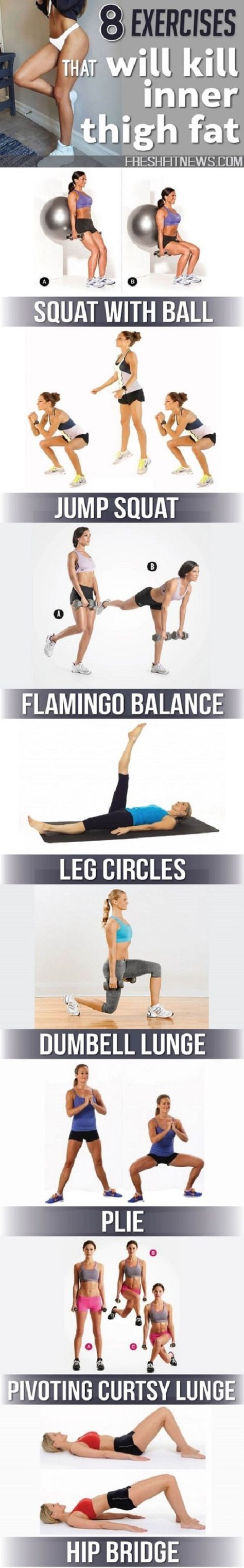 If you have an inner thigh fat, you can't wear skinny jeans, mini skirts, and hot pants perfectly. But if you want to get rid of it– Look at these 8 exercises!